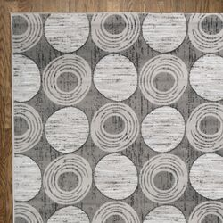 Grey Circles Area Rug