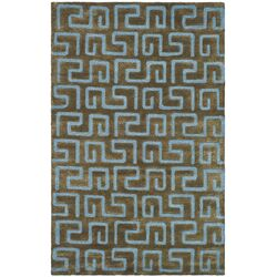 Rory Hand-Tufted Brown Area Rug