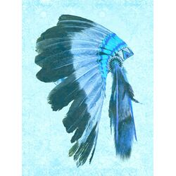 Indio Graphic Art in Blue