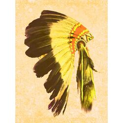 Indio Graphic Art in Yellow