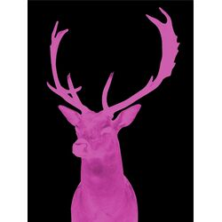 Stag Graphic Art in Night Pink