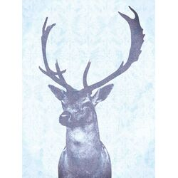 Stag Graphic Art in Blue