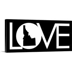 Idaho Love State by Kate Lillyson Textual Art on Gallery Wrapped Canvas