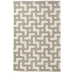 Persia Lead/Shell Gray Outdoor Area Rug
