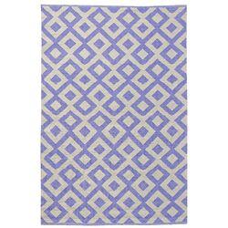 Tile Purple Outdoor Area Rug