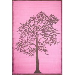 Tree Brown / Pink Outdoor Rug
