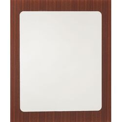 Mirror with Printed Wood Frame
