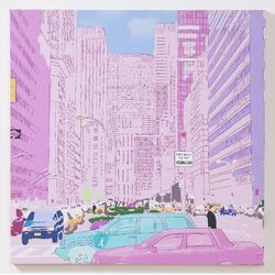 Neon City Painting Print on Canvas