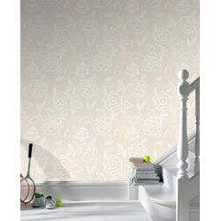 Paintable Martinique Wallpaper in White