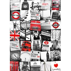 Graham and Brown London Montage Vintage Advertisement on Canvas