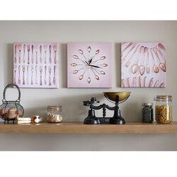 Kitchen Cutlery Clock 3 Piece Graphic Art on Canvas Set