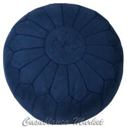 Suede Leather Ottoman