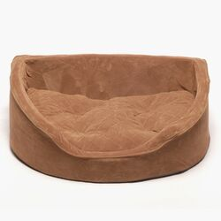 Hearth Dog Bed with Removable Cushion in Chocolate