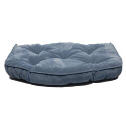 Microfiber Tufted Hearth Dog Bed in Blue
