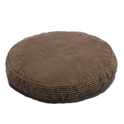 Plush Chenille Round Pet Bed with Non Skid Bottom in Loden