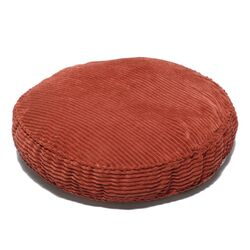 Plush Chenille Round Pet Bed with Non Skid Bottom in Sunset