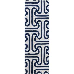 Tufted Pile Blue Ionic Rug