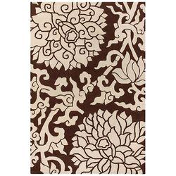 Tufted Pile Chocolate/Cream Blossom Rug