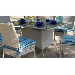 Grenada Patio Rectangular Glass Dining Table