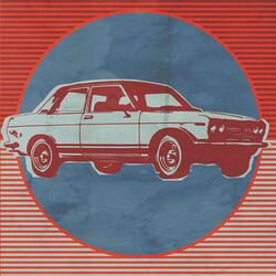 Retro Ride - Red Car by Paste Face Painting Print on Canvas