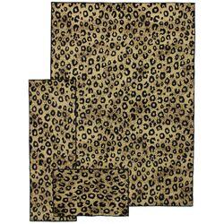 Supreme Yellow Black Leopard Print Area Rug Wayfair