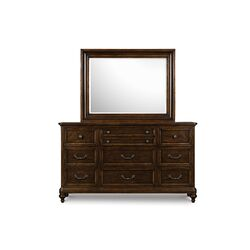 Lafayette 10 Drawer Dresser with Mirror