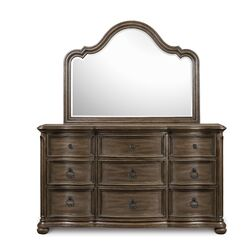 Broughton Hall 9 Drawer Dresser with Mirror