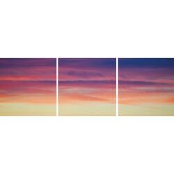 Shutter 3 Piece Photographic Print on Canvas Set in Purple Haze