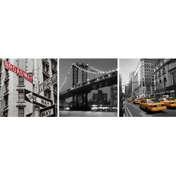 Shutter New York 3 Piece Photographic Print on Canvas Set