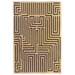 Flat Weave Ivory/Dark Brown Area Rug