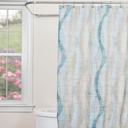 Sketchbook Waves Shower Curtain