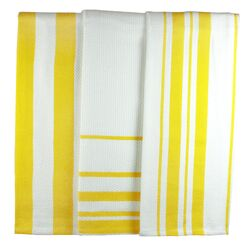 MUincotton Dish Towel in Lemon Stripe