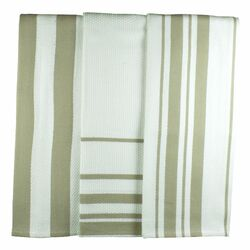 MUincotton Dish Towel in Sand Stripe