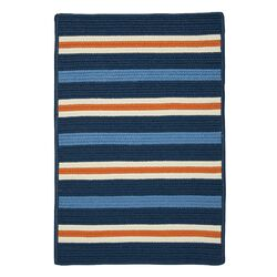 Painter Stripe Set Sail Blue Indoor/Outdoor Area Rug