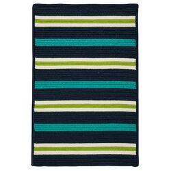 Painter Stripe Navy Waves Indoor/Outdoor Area Rug