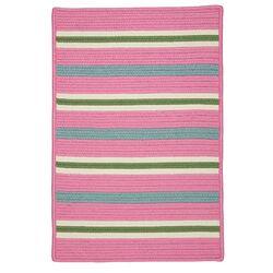 Painter Stripe Spring Pink Indoor/Outdoor Area Rug