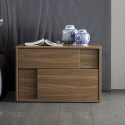 Cloud Square Left 2 Drawer Nightstand