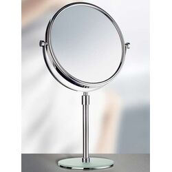 Smedbo-Outline Toilet Roll Holder with Lid and Toilet Brush in Polished Chrome