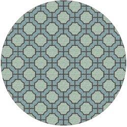 Dream Moss/Blue Geometric Area Rug