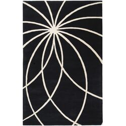 Forum Black & Ivory Area Rug