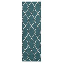 Fallon Turquoise/Ivory Area Rug