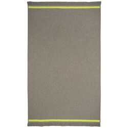 Rookie Smoke Grey/Green Solid Area Rug