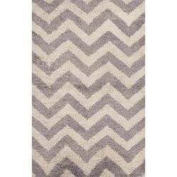 Heighton Gray/Ivory Geometric Area Shag
