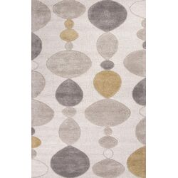 Blue Ivory & Gray Area Rug