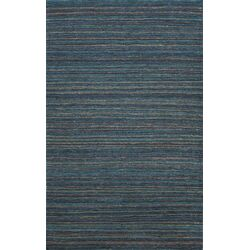 Hula Dark Blue Stripe Area Rug