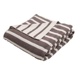 Trinity Handloom Striped Cotton Throw Blanket