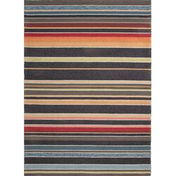 Colours I-O Charcoal Stripe Indoor/Outdoor Area Rug