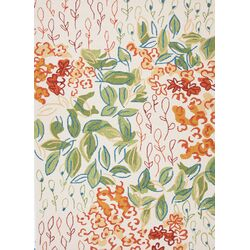 Colours I-O Antique White Floral Indoor/Outdoor Area Rug