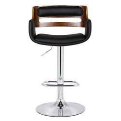 Bentwood Adjustable Height Bar Stool with Cushion