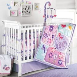 Once Upon a Garden 4 Piece Crib Bedding Set